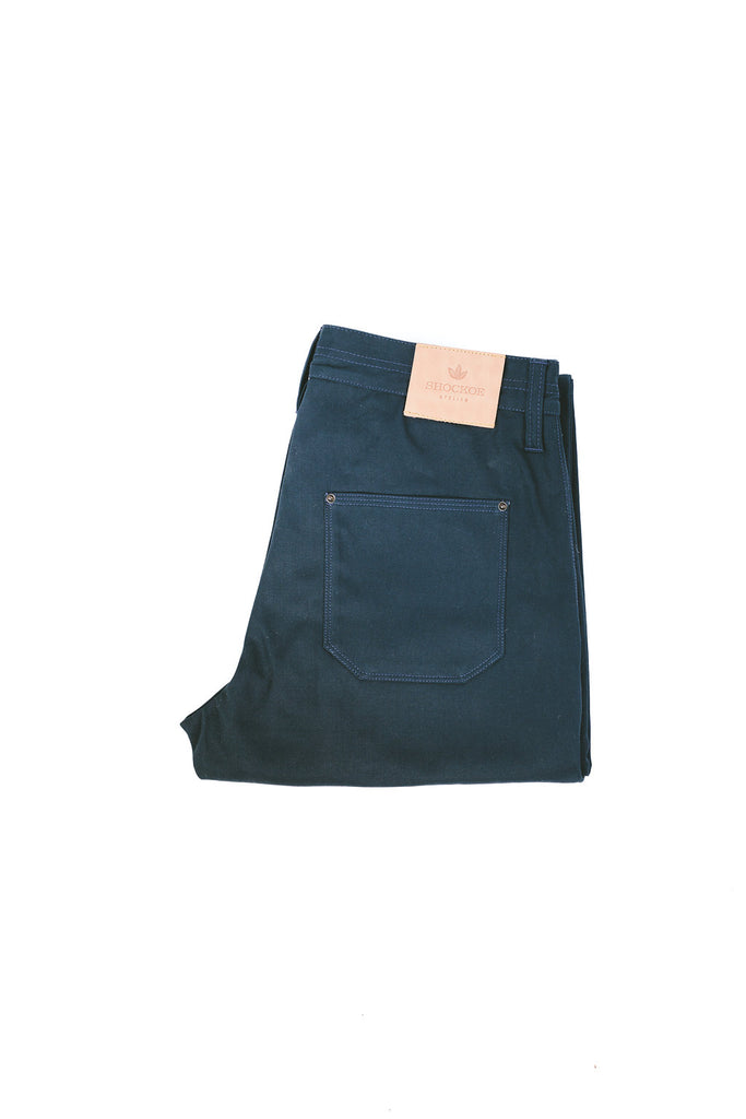Military Trouser Navy Herringbone