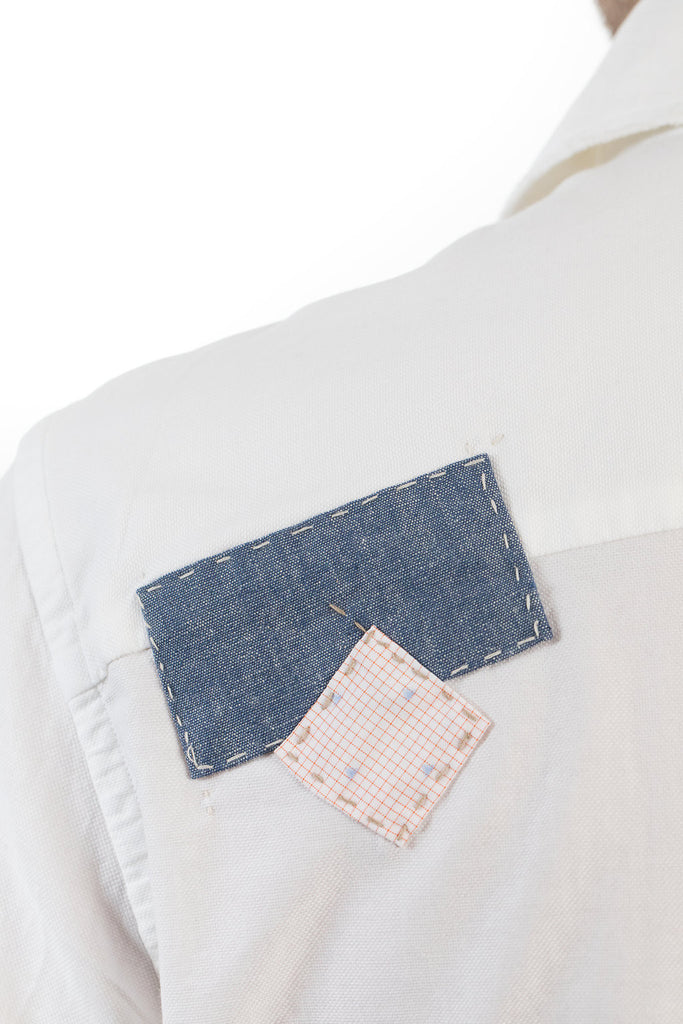 White Sashiko Repair Shirt