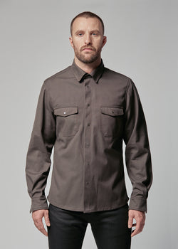 Utility Shirt in Charcoal Canvas