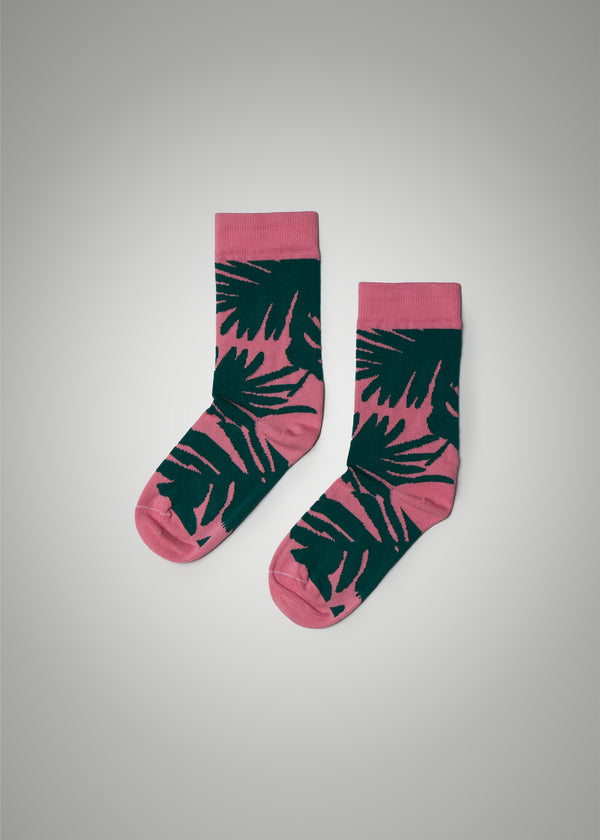 The Palm Sock - Pink/Green