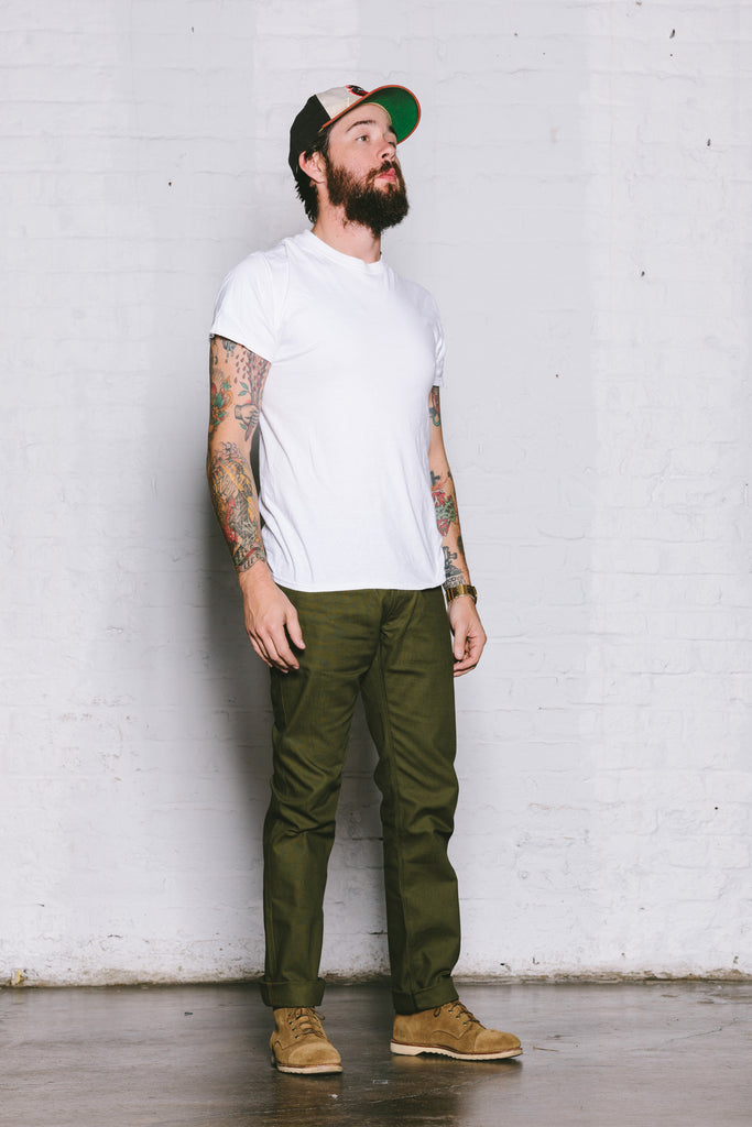 Selvedge Duck Olive
