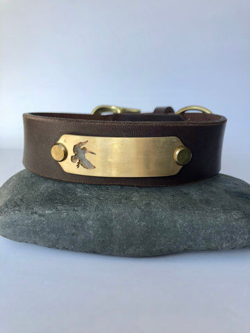 Dog Collar - Woodcock/Brass