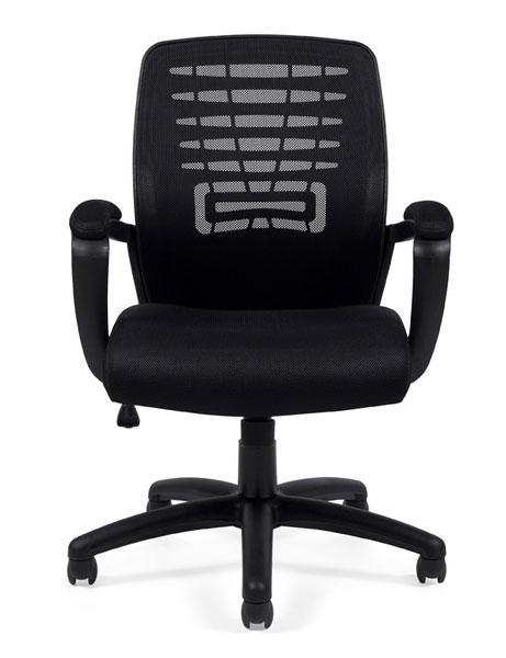 Executive Pneumatic Tilter Chair with Fixed Height Molded Arms and Padded Armrests