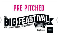 The Big Feastival 2020 - Pre Pitched Tents
