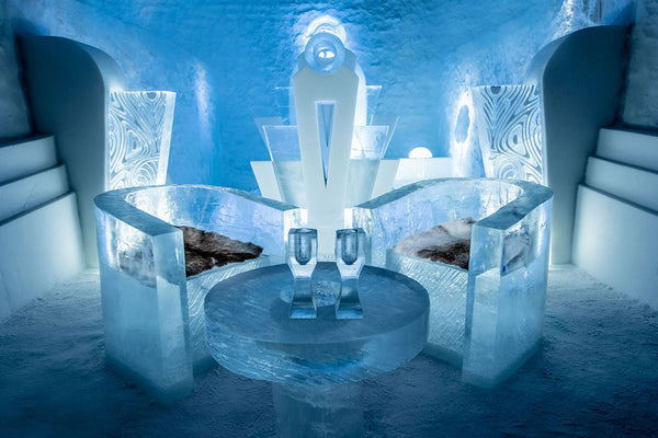 Image of room at ICEHOTEL in Swedish Lapland