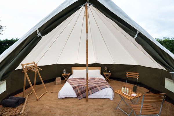 Glastonbury Deluxe Bell Tent - With Hospitality Tickets - £7500 + VAT - Yurtel - The Finest Luxury Boutique Camping in the Land
