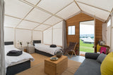 Glastonbury Luxury Suite - With Hospitality Tickets - £12750 + VAT - Yurtel - The Finest Luxury Boutique Camping in the Land
