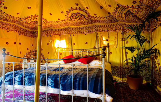 Glastonbury Bedouin Tent - Without Hospitality Tickets - £6800 - Yurtel - The Finest Luxury Boutique Camping in the Land