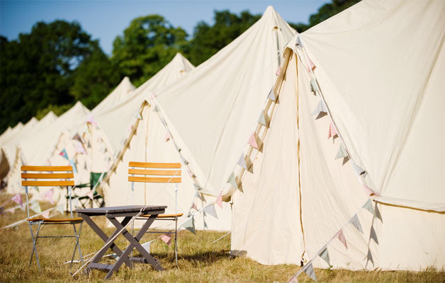Glastonbury Classic Bell Tent - Yurtel - The Finest Luxury Boutique C&ing in the Land & Carfest North Luxury Camping - Bell Tent Glamping