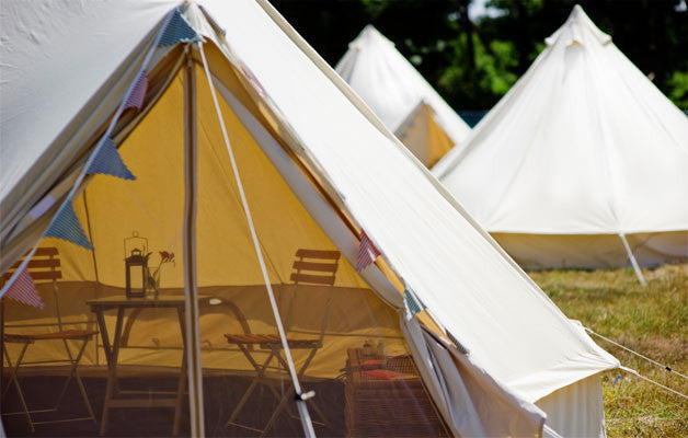 Port Eliot Simple Bell Tent. Boutique glamping.
