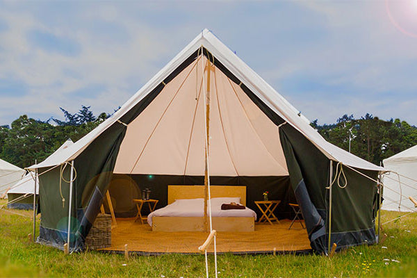Glastonbury Deluxe Bell Tent - Without Hospitality Tickets - £5700 + VAT - Yurtel - The Finest Luxury Boutique Camping in the Land
