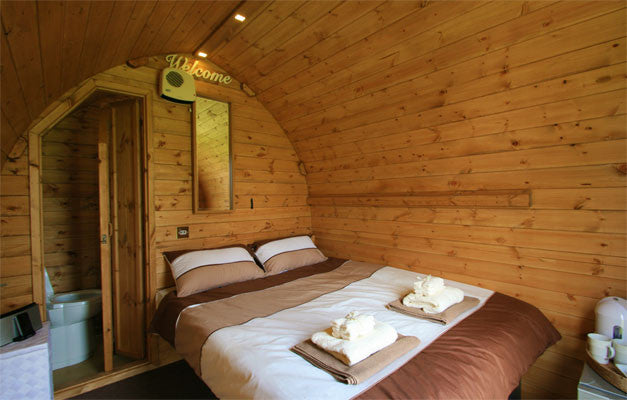 Glastonbury En Suite Hut - Without Hospitality Tickets - £7700 + VAT - Yurtel - The Finest Luxury Boutique Camping in the Land