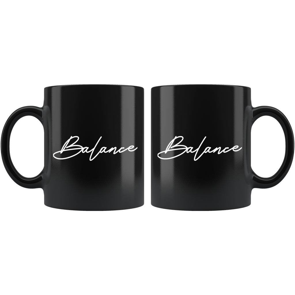 Balance | Black Coffee Mug