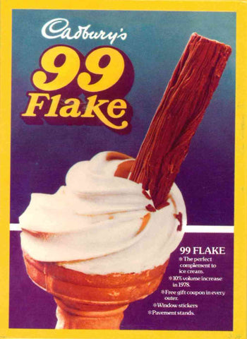 99 Flake fridge magnet