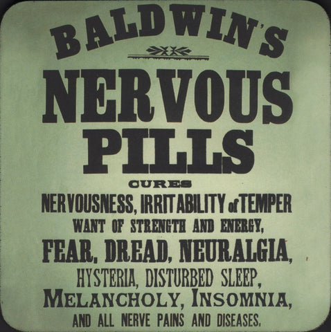 Baldwin's Nervous Pills coaster