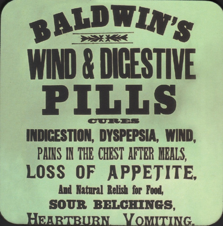 Baldwin's Wind and Digestive Pills coaster