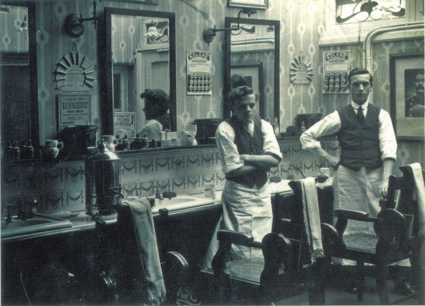 Barber's Shop, Salford postcard