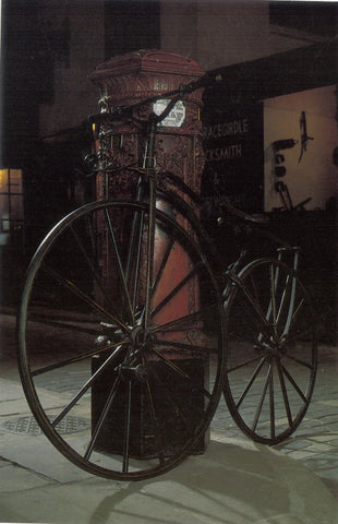 Boneshaker Bicycle c.1869 postcard