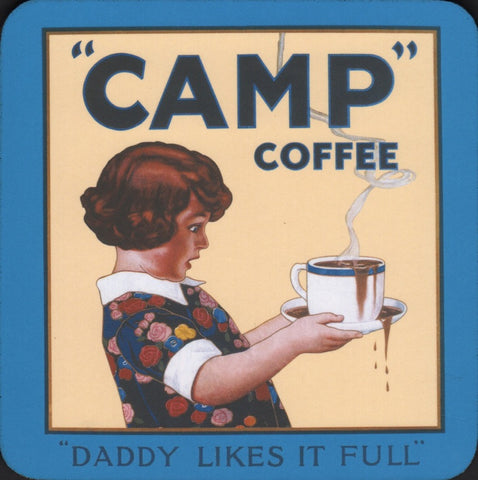 Camp Coffee coaster