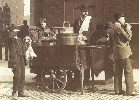 Ice cream seller, Manchester, 1889 postcard