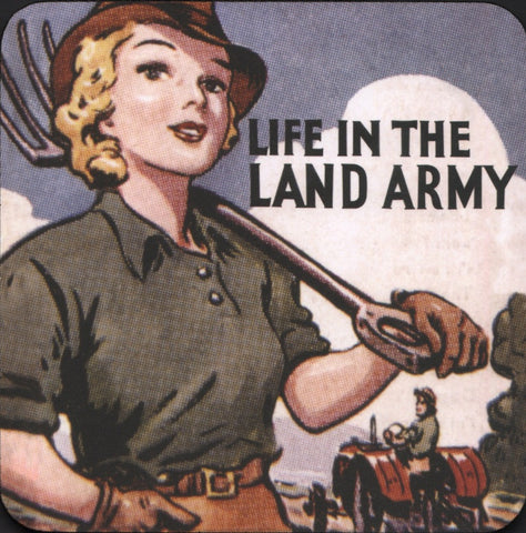 Life in the Land Army coaster