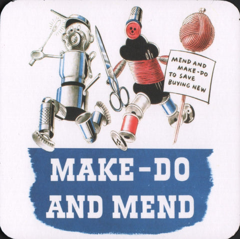 Make do and Mend coaster
