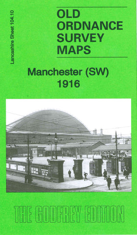Manchester South West 1916 Ordnance Survey Map