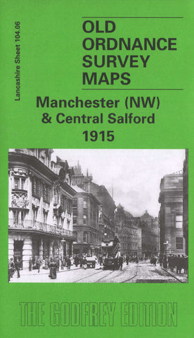 Manchester North West 1915 Ordnance Survey Map