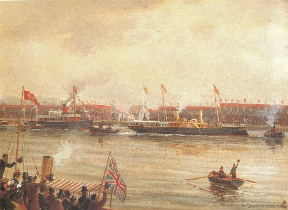 Opening of Manchester Ship Canal, 1894 print