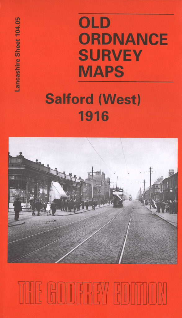 Salford West 1916 Ordnance Survey Map