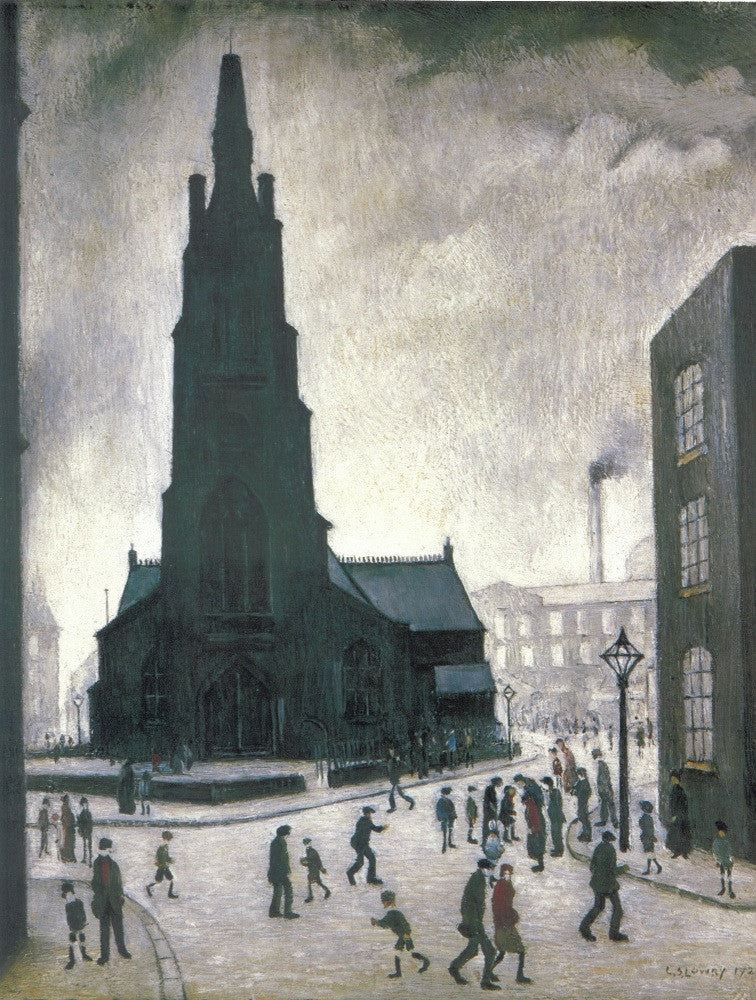 Street Scene, St Simon's Church, 1928 print
