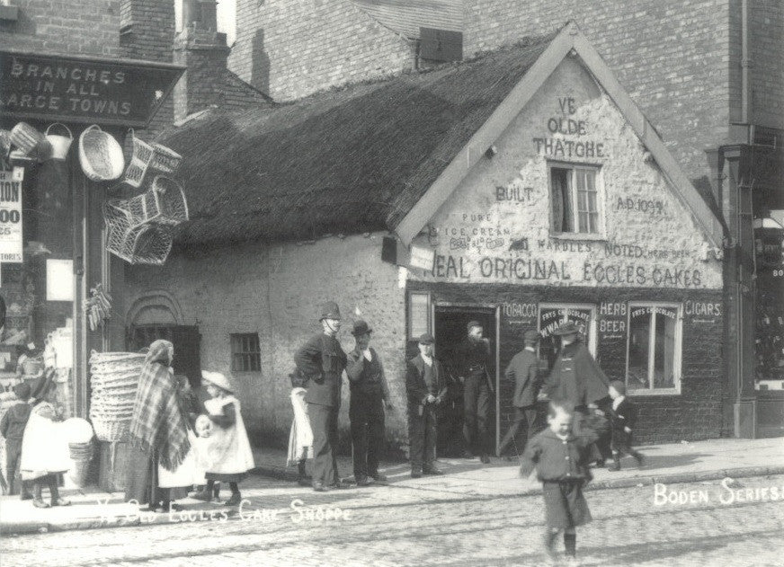 Eccles Cake shop c1905 postcard