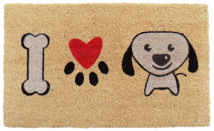 I Love Puppy PVC Doormat