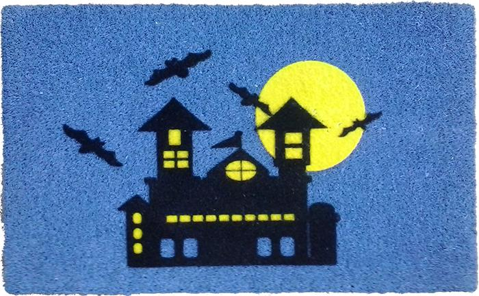 Haunted House PVC Doormat