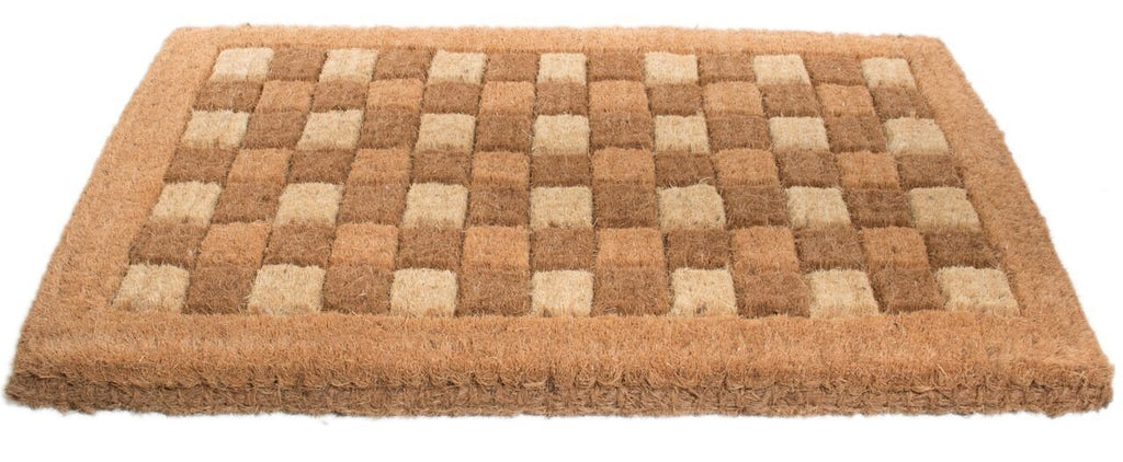 Square Pattern Handwoven Coco Doormat