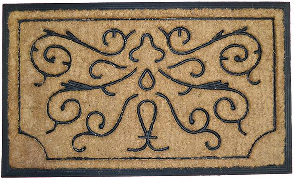 Swirls and Twirls Rubber Coir Doormat