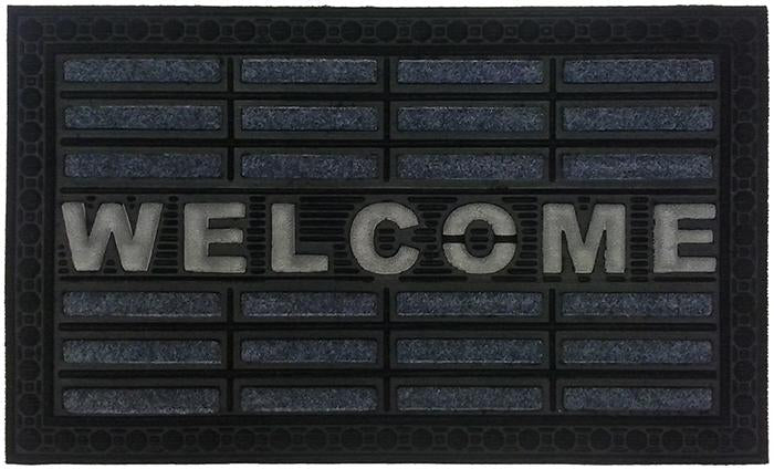 Welcome Gray Synthetic Doormat
