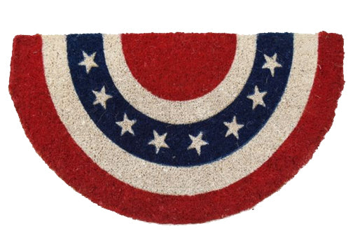 coir mat with stripes and stars