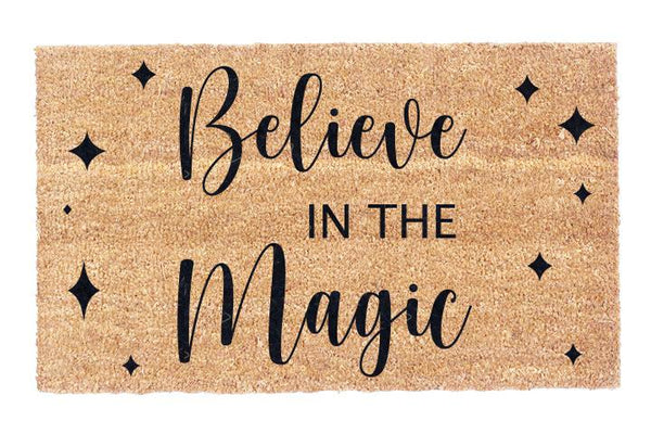 Believe In The Magic Coir Doormat