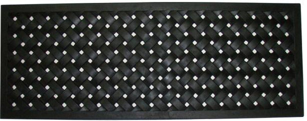 "Braided Recycled Rubber Doormat ( 18"" x 30"" )"