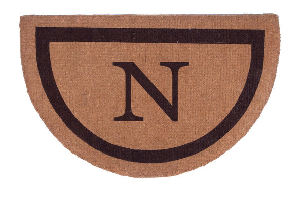 Half Round Single Border Personalized Doormats