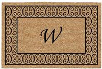 PERSONALIZED MAT - CHARLESTON BORDER - MONOGRAM