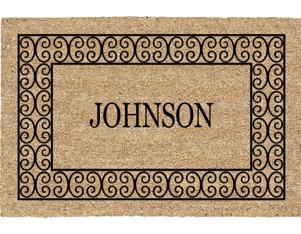 PERSONALIZED MAT -  CHARLESTON BORDER - FULL NAME