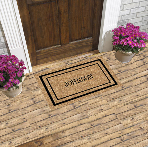 PERSONALIZED DOORMAT - CLASSIC BORDER - FULL NAME