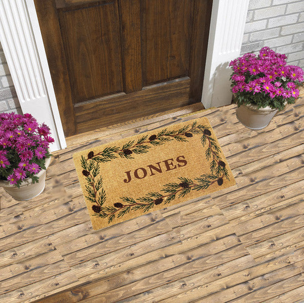 PERSONALIZED MAT - EVERGREEN BORDER - FULL NAME