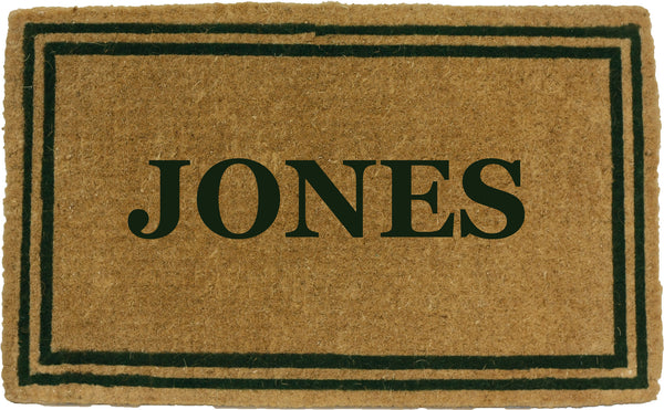 PERSONALIZED COCO MATS - DOUBLE GREEN BORDER
