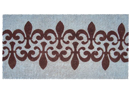 FLEUR IN BLUE BACKGROUND - COCO DOORMAT