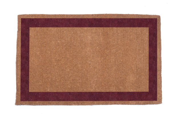Single Bordered Coco Doormats