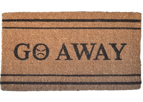 Coir door mats - go away