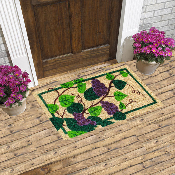 Grape vine coir doormat